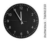 isolated wall clock with its... | Shutterstock . vector #766461310