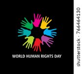 world human rights day  concept | Shutterstock .eps vector #766464130