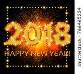 happy new 2018 year season... | Shutterstock . vector #766465234