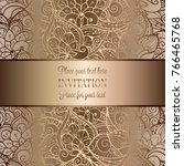 vintage baroque wedding... | Shutterstock .eps vector #766465768