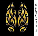 tattoo tribal maori vector... | Shutterstock .eps vector #766476190