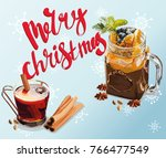 new year and christmas still... | Shutterstock .eps vector #766477549