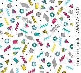geometric vector pattern... | Shutterstock .eps vector #766477750