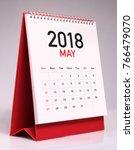 simple desk calendar for may... | Shutterstock . vector #766479070