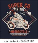 tee print design as vector | Shutterstock .eps vector #766482706