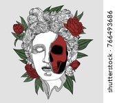 apollo death skull. creative... | Shutterstock .eps vector #766493686