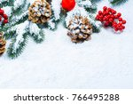 christmas and new year... | Shutterstock . vector #766495288