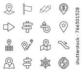thin line icon set   pointer ... | Shutterstock .eps vector #766501528