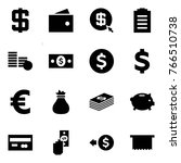 origami style icon set   dollar ... | Shutterstock .eps vector #766510738