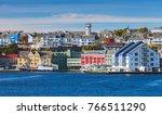 kristiansund cityscape  coastal ... | Shutterstock . vector #766511290