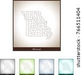 map of missouri | Shutterstock .eps vector #766511404