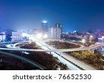the light trails on the modern... | Shutterstock . vector #76652530
