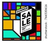 summer sale memphis style web... | Shutterstock .eps vector #766530616