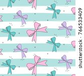 vector bows isolated on striped ... | Shutterstock .eps vector #766533409