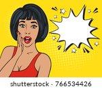 sexy surprised brunette girl in ... | Shutterstock . vector #766534426