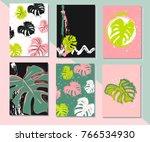 set of artistic creative... | Shutterstock .eps vector #766534930