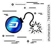 flat line design graphic image...   Shutterstock .eps vector #766535224