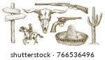 wild west icons | Shutterstock .eps vector #766536496