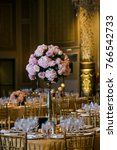 classy wedding setting.table... | Shutterstock . vector #766542733