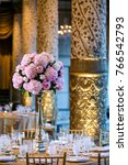 classy wedding setting.table... | Shutterstock . vector #766542793