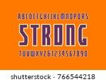 sans serif font with contour....   Shutterstock .eps vector #766544218