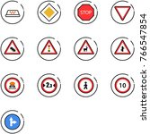 line vector icon set   taxi... | Shutterstock .eps vector #766547854