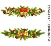 vector christmas fir decoration ... | Shutterstock .eps vector #766549318