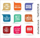abstract modern sale vector... | Shutterstock .eps vector #766552918