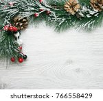 christmas and new year's... | Shutterstock . vector #766558429