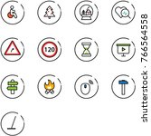 line vector icon set   disabled ... | Shutterstock .eps vector #766564558