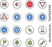 line vector icon set   sign... | Shutterstock .eps vector #766566940