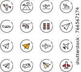line vector icon set   traffic... | Shutterstock .eps vector #766567174