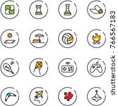 line vector icon set   puzzle... | Shutterstock .eps vector #766567183