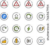 line vector icon set   turn... | Shutterstock .eps vector #766567954