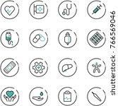 line vector icon set   heart... | Shutterstock .eps vector #766569046