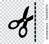 black scissors icon on... | Shutterstock .eps vector #766569076