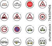 line vector icon set   taxi... | Shutterstock .eps vector #766569406
