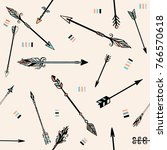 tribal arrows. seamless pattern. | Shutterstock .eps vector #766570618