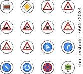 line vector icon set   sign... | Shutterstock .eps vector #766572034