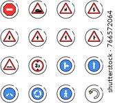 line vector icon set   no way... | Shutterstock .eps vector #766572064