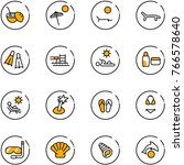 line vector icon set   coconut... | Shutterstock .eps vector #766578640