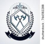 luxury heraldic vector emblem... | Shutterstock .eps vector #766582288
