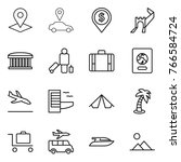 thin line icon set   pointer ... | Shutterstock .eps vector #766584724
