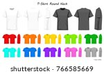 t shirt round neck color... | Shutterstock .eps vector #766585669