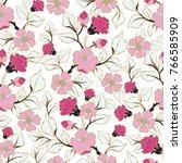 floral seamless pattern. hand... | Shutterstock .eps vector #766585909