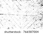 grunge black and white pattern. ... | Shutterstock . vector #766587004