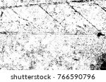 grunge black and white pattern. ... | Shutterstock . vector #766590796