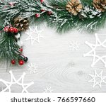 christmas and new year's... | Shutterstock . vector #766597660