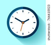 clock icon in flat style  timer ... | Shutterstock .eps vector #766610023