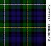 scottish plaid in green  black  ... | Shutterstock .eps vector #766611040